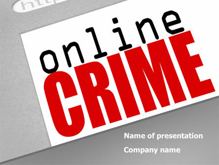 Legal: Online Crime PowerPoint Template #08377
