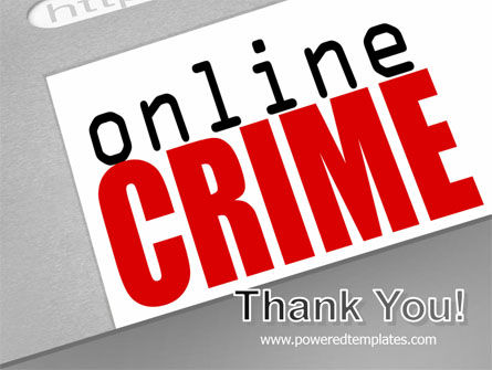 Online Crime PowerPoint Template Slide 20