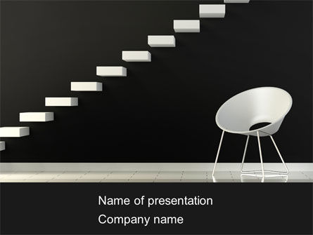 Business Concepts: White on Black Free PowerPoint Template #08378