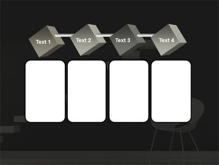 White on Black PowerPoint Template Slide 18