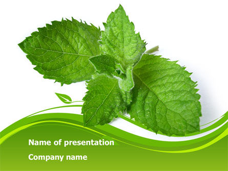 Nature & Environment: Mint PowerPoint Template #08379