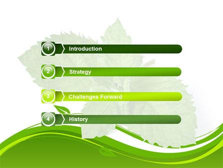 Mint PowerPoint Template, Slide 3, 08379, Nature & Environment — PoweredTemplate.com