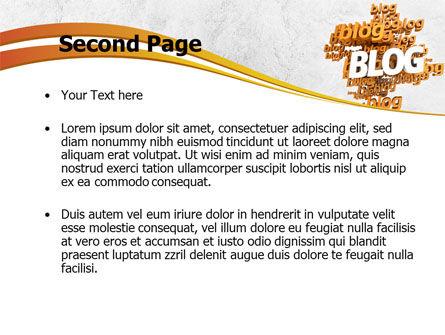 Abstract Blog PowerPoint Template, Slide 2, 08381, Telecommunication — PoweredTemplate.com