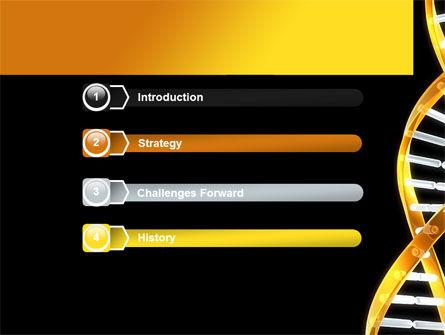 Gold DNA String PowerPoint Template, Slide 3, 08385, Medical — PoweredTemplate.com