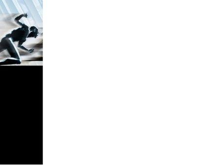 Running Athletes PowerPoint Template, Slide 3, 08386, Sports — PoweredTemplate.com