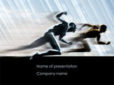 Running Athletes PowerPoint Template#1