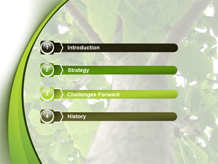Tree Growth PowerPoint Template, Slide 3, 08387, Nature & Environment — PoweredTemplate.com
