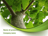 Nature & Environment: Tree Growth PowerPoint Template #08387