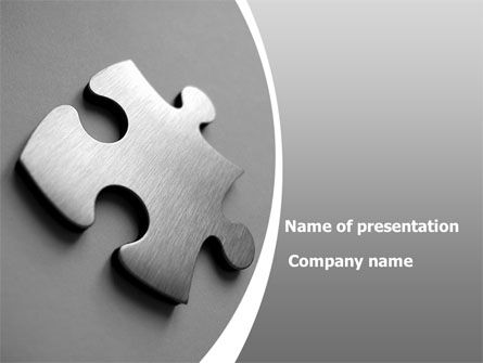 Steel Jigsaw PowerPoint Template, 08390, Consulting — PoweredTemplate.com