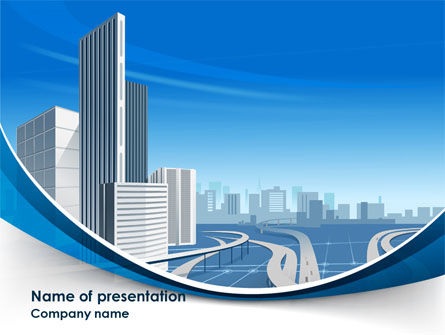 City Paysage PowerPoint Template, 08391, Construction — PoweredTemplate.com