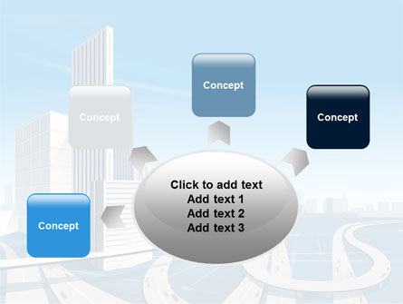 City Paysage PowerPoint Template Slide 7