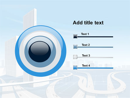 City Paysage PowerPoint Template Slide 9