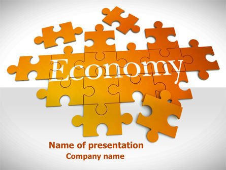 Economy Puzzle PowerPoint Template, 08393, Financial/Accounting — PoweredTemplate.com