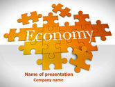 Financial/Accounting: Economy Puzzle PowerPoint Template #08393