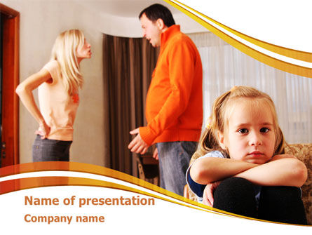 Family Quarrel PowerPoint Template, 08394, People — PoweredTemplate.com