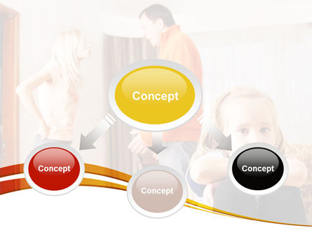 Family Quarrel PowerPoint Template, Slide 4, 08394, People — PoweredTemplate.com