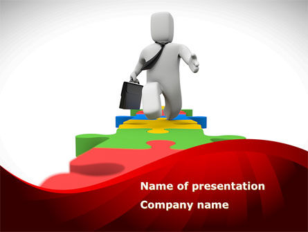 Business Way PowerPoint Template, 08396, Consulting — PoweredTemplate.com