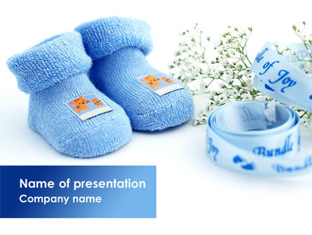 Education & Training: Little Blue Slippers PowerPoint Template #08397