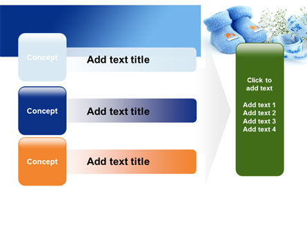 Little Blue Slippers PowerPoint Template Slide 12