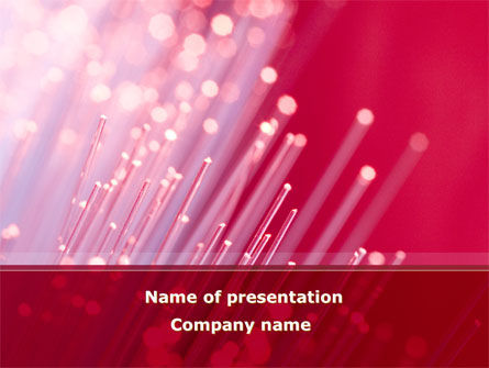Telecommunication: Plantilla de PowerPoint - líneas de comunicación de fibra óptica #08398