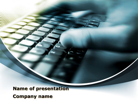 Computers: Gaming Computer Keyboard PowerPoint Template #08399