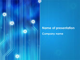 Technology and Science: Blue Circuit PowerPoint Template #08400