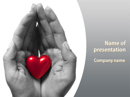 In Your Hands PowerPoint Template, 08403, Holiday/Special Occasion — PoweredTemplate.com