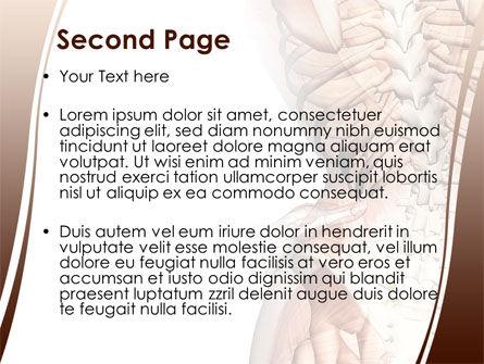 Vertebrae PowerPoint Template, Slide 2, 08404, Medical — PoweredTemplate.com