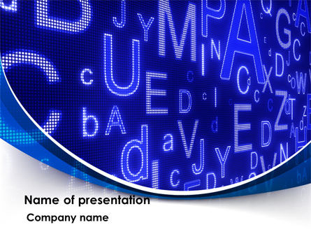 Education & Training: Screen Letters PowerPoint Template #08405