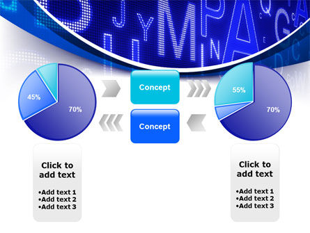 Screen Letters PowerPoint Template Slide 11