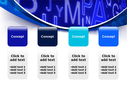 Screen Letters PowerPoint Template Slide 5