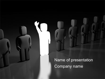 Careers/Industry: Statement PowerPoint Template #08408