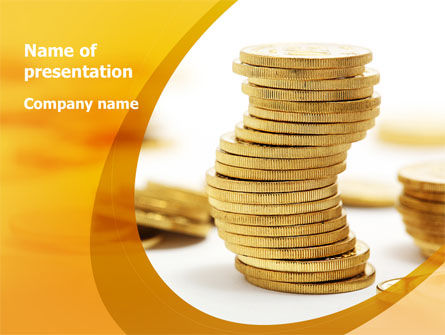 Financial/Accounting: Coin Stack PowerPoint Template #08410