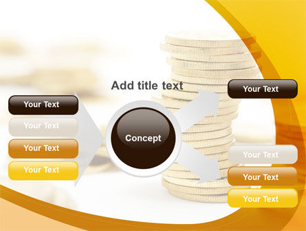 Coin Stack PowerPoint Template Slide 14