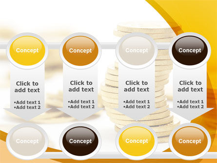 Coin Stack PowerPoint Template Slide 18