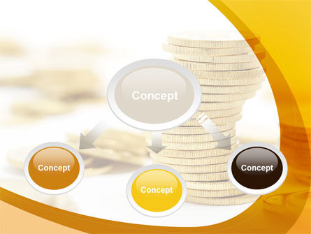 Coin Stack PowerPoint Template, Slide 4, 08410, Financial/Accounting — PoweredTemplate.com