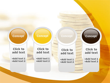 Coin Stack PowerPoint Template Slide 5