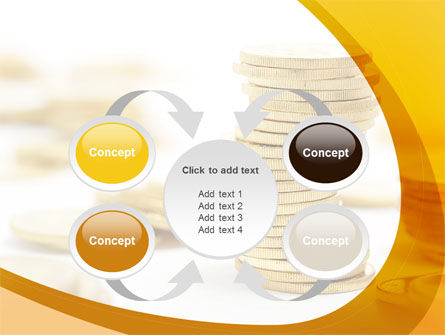 Coin Stack PowerPoint Template Slide 6