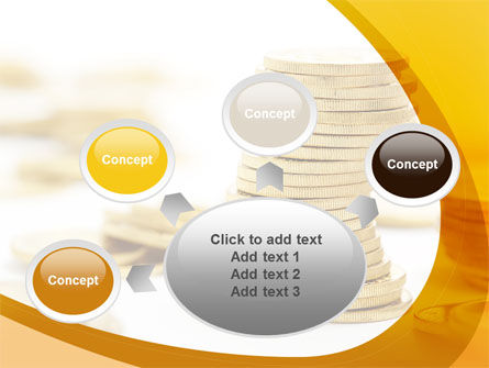 Coin Stack PowerPoint Template Slide 7