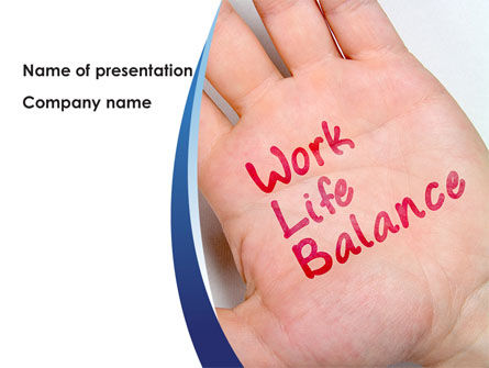 Work-Life Balance PowerPoint Template, 08411, Consulting — PoweredTemplate.com