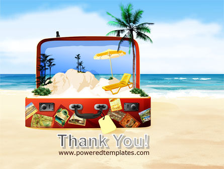 Vacation Suitcase PowerPoint Template Slide 20