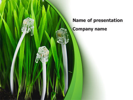 Technology and Science: Cable Grass PowerPoint Template #08414