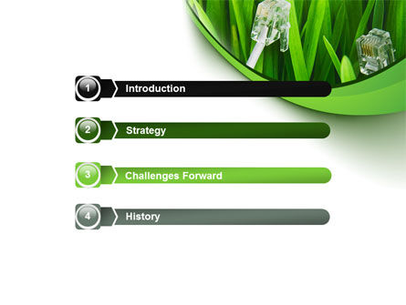 Cable Grass PowerPoint Template, Slide 3, 08414, Technology and Science — PoweredTemplate.com