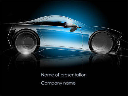 Cars and Transportation: Concept Car Modeling PowerPoint Template #08415