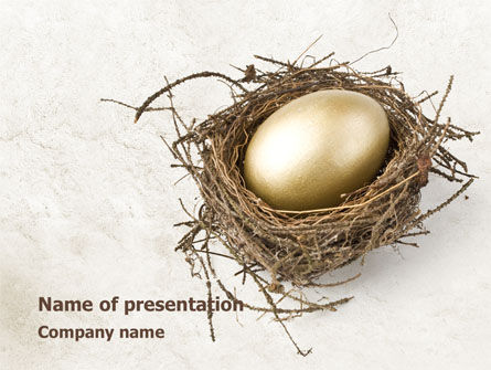 Business Concepts: Golden Egg PowerPoint Template #08418