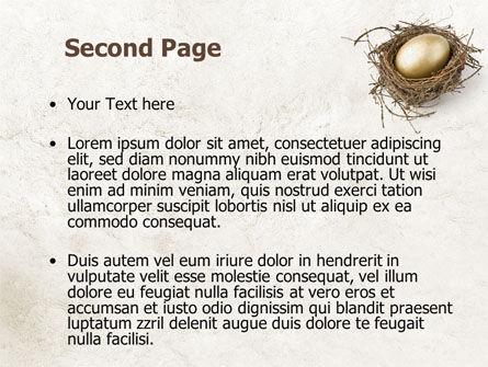 Golden Egg PowerPoint Template Slide 2