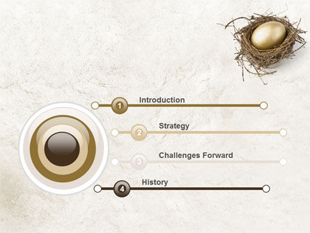 Golden Egg PowerPoint Template Slide 3