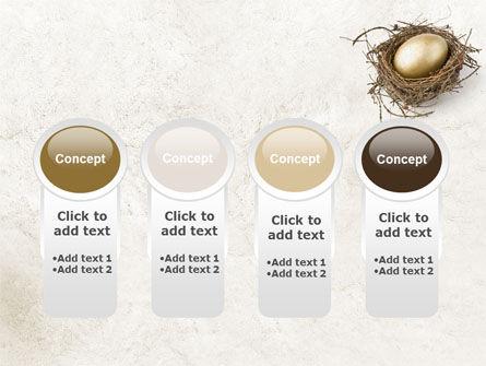 Golden Egg PowerPoint Template Slide 5