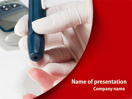 Medical: Blood Test Result PowerPoint Template #08419