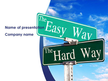 Easy or Hard Way PowerPoint Template